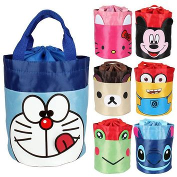 Cartoon Hello And Kitty Portable Waterproof Storage Container Tote Carry Bag Organizer For Outdoor Camping Lunch Box Picnic Bag