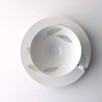 Rosenthal Coffee Cup and Saucer Set with Colored Leaves Design