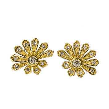Victorian Flower Earrings