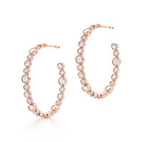 Tiffany & Co. - Tiffany Cobblestone earrings in 18k rose gold with diamonds, medium.