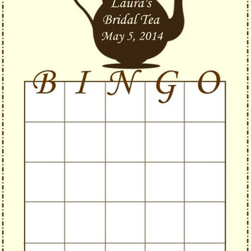 Bridal Tea Bingo