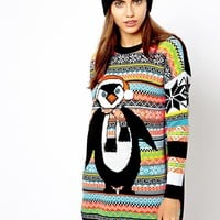 River Island Penguin Christmas Jumper
