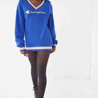 Champion & UO Fleece V-Neck Sweatshirt | Urban Outfitters