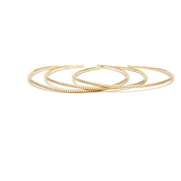 Simple stacking bracelet -gold bangle - stacking bracelet - layering bracelet - bangle bracelet