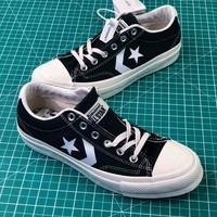 Converse Canvas Chevronstar Ox Black Low Canvas Shoes - Best Online Sale