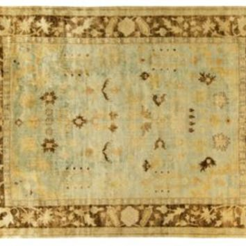 Gia Oushak Rug, Light Blue/Brown, Area Rugs