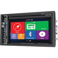 POWER ACOUSTIK PDN_626B 6.2 Double-DIN In-Dash GPS Navigation LCD Touchscreen DVD Receiver with Bluetooth(R)