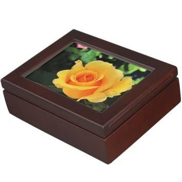 Yellow Rose Keepsake Box