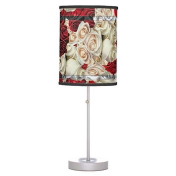 Mono Sweetheart Roses Table Lamp