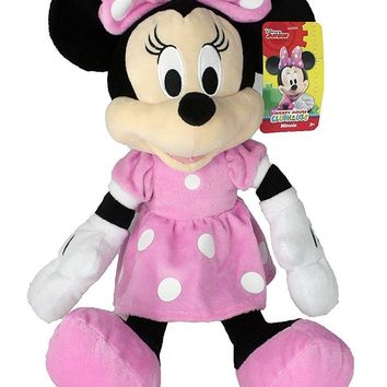 """Disney 15"""" Minnie Mouse in Pink Dress Plush"""