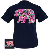 Girlie Girl Originals Preppy Watercolor Mama Bear T-Shirt