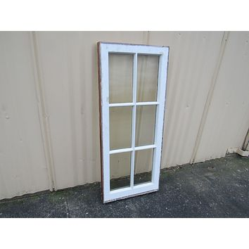Handcrafted Antique Exterior True Divided Window Type G White 40in x 17in Wood -- Used