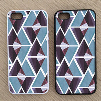 Cute Abstract Triangle Geometric Pattern iPhone Case, iPhone 5 Case, iPhone 4S Case, iPhone 4 Case - SKU: 240