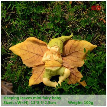 ED original design resin angel figurine Christmas tree Halloween decorations garden decor sleeping fairy baby outdoor statue