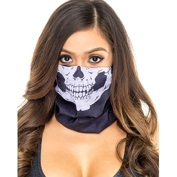 Black Skull Face Mask