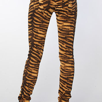 Tripp NYC The Animal Twill Pant in Natural Tiger
