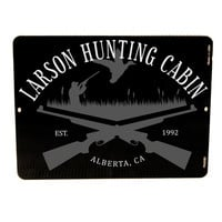 Custom Hunting Cabin Sign - Personalized Hunting Sign, Father's Day Gift, Men's Birthday, Custom Trophy, Custom Hunting Sign