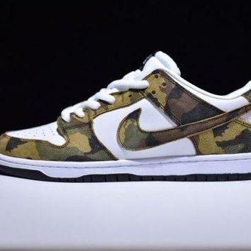 DCCKBTW Radient Nike SB Zoom Dunk Low Pro Camo Olive Legion Green Trainers Men's Running Shoe