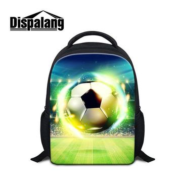 Cool Backpack school Dispalang 12 inch Small Backpack for Preschooler Soccerly Bookbags for Kids Little Boys Footbally Pattern Schoolbag Cool Mochila AT_52_3