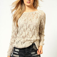 Lola Leaf Ladder Tunic Jumper