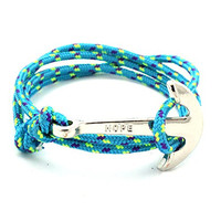 Hope Anchor and Hook Wrap Bracelet (2 pack)
