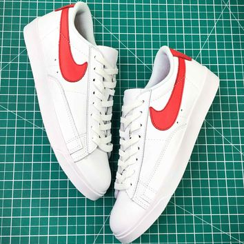 Nike Blazer Low Premium White Red Shoes - Best Online Sale