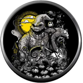 Oogie Boogie Moon Halloween Town Nightmare Before Christmas Jack Skellington 18MM - 20MM Charm for Snap Jewelry New Item