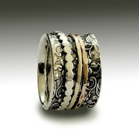 Sterling silver band with filigree design and by artisanlook