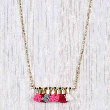 7 Tassel Draping Necklace