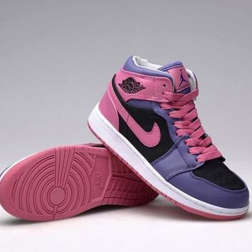 Nike Air Jordan Retro Purple & Pink Women Training Sports Basketball Shoes