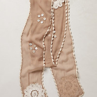 Coastal Applique Skinny Scarf