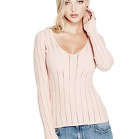 Hanna V-Neck Sweater at Guess