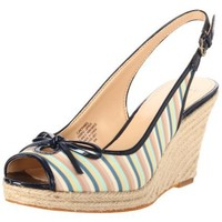 Circa Joan & David Women`s Norabel Wedge Pump,Blue Multi/Medium Blue Fabric,8 M US