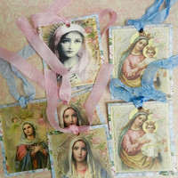 Religious Gift Tags Virgin  Mary Assorted Gift Tags