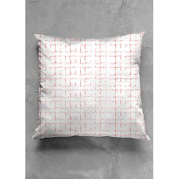 red spider graph pillow