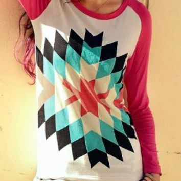 Geometrical Pattern Sweatshirt