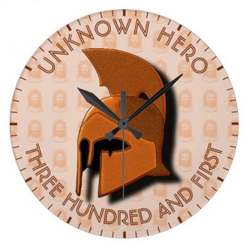 Unknown Spartan 301th Hero Greek Helmet Large Clock