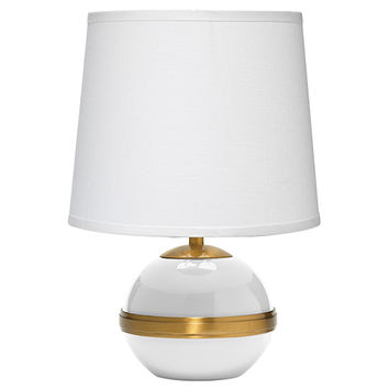 Jamie Young Company 1STOC-SMWH-2TALL-131S Stockholm White One-Light Title 24 Accent Table Lamp with Small Tall Cone Shade