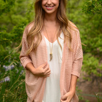 Love Like This Cardigan- Coral