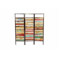 Pre-owned Luna Sea Reclaimed Wood 3-Panel Room Divider