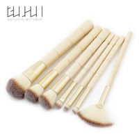 7PCS Makeup Brush Professional Beauty Tools Bamboo Eyeshadow Foundation Powder Powder Fan Brush Bamboo Handle GUJHUI