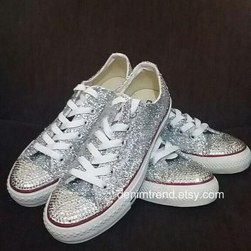 Custom Shoes with Glitter - Converse