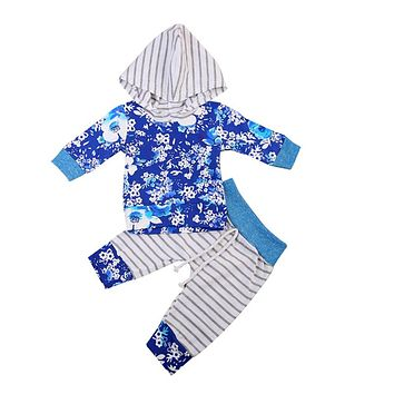 Newborn Baby Girl Long Sleeve Tops Long Pants 2PCS Baby Girl Clothes New Arrival Fashion Outfits Set Clothing