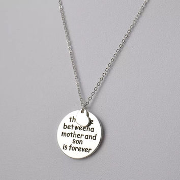 Love between Mother and Son Necklace