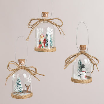 Glass Cloche Ornaments, Set of 3 - World Market