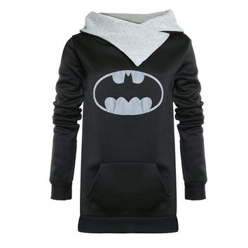Harajuku Woman Batman Suicide Squad hoodie long sleeve turtle neck slim sweatshirt shirt tops wonder woman batgirl hoodie