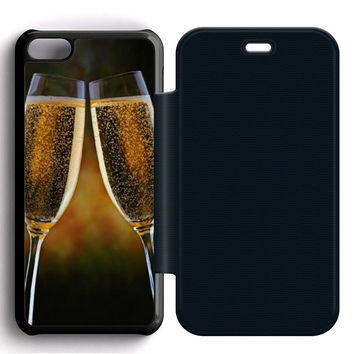 Champagne Cheers Flip iPhone 5C Case