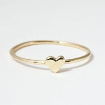 catbird::shop by category::Jewelry::Wedding & Engagement Rings::Heart Ring, Yellow Gold