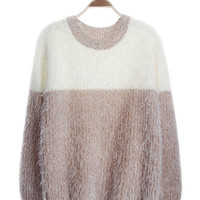 Striped Knitted Mohair Sweater