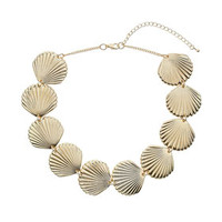 SHELL SHAPED COLLAR NECKLACE